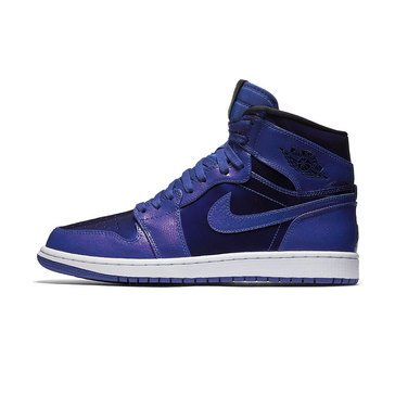 Jordan Air Jordan 1 Retro High Men's Basketball Shoe Deep Royal/ Black/ White