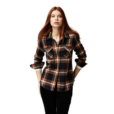 Pendleton Wool Plaid Desperado Shirt in Black/Brown Combo