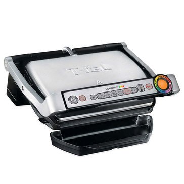 T-Fal OptiGrill Plus Stainless Steel Indoor Electric Grill (GC712D54)