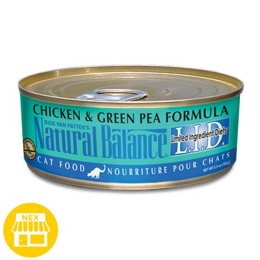 Natural Balance Limited Ingredient Diets Grain Free Chicken & Green Pea Wet Cat Food, 5.5 oz.