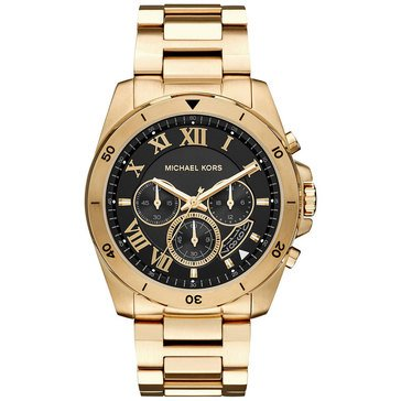 Michael Kors Men's Brecken Chronograph Gold Tone Watch, 44mm