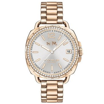 Coach Women's Tatum Crystal Bezel/Gold Plated Watch, 34mm
