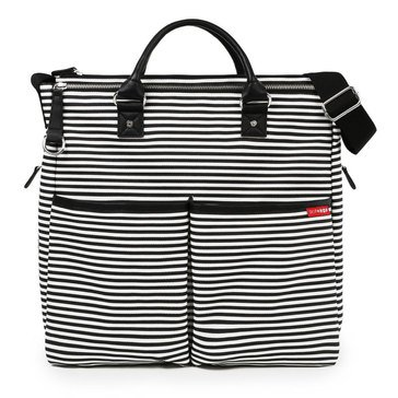 Skip Hop Dup Special Edition Diaper Bag, Black Stripe