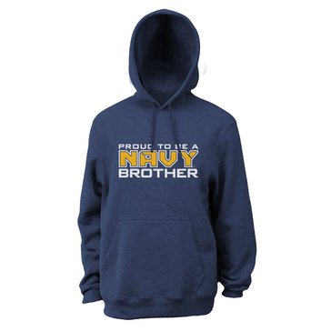 Soffe Men's Fleece Hoodie with Proud To Be Navy Brother