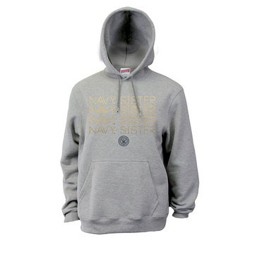 Soffe Navy Sister Repeat Ombre Fleece Hoodie