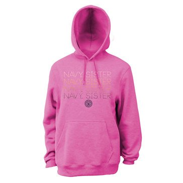 SOFFE NAVY SISTER REPEAT OMBRE FLC HOODIE NEON PINK_D