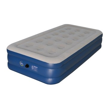 Serta by Wenzel Raised Twin Air Mattress with Pump and Carry Bag