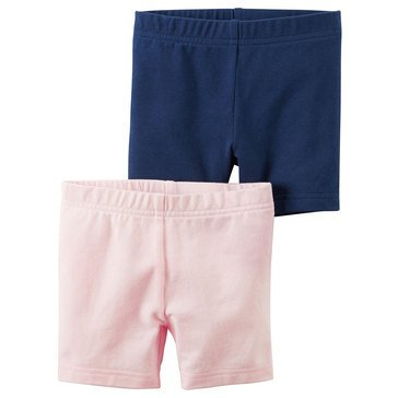 Carter's Toddler Girls' Bike Shorts, 2-Pack