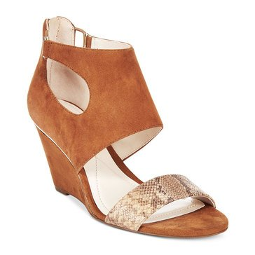Alfani Giah Women's Wedge Dress Sandal Tobacco