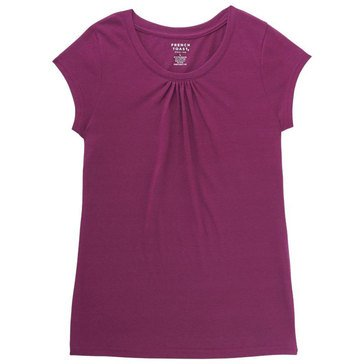 French Toast Toddler Girls' Basic Crew Tee