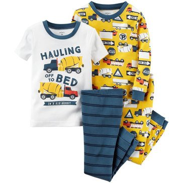 Carter's Little Boys' Haul Off To Bed 4-Piece Pajama Set