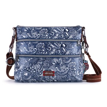 Sakroots Basic Crossbody Navy Spirit Desert