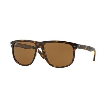 Ray-Ban Men's Polarized Sunglasses RB4147, Tortoise/ Brown Classic B-15 60mm