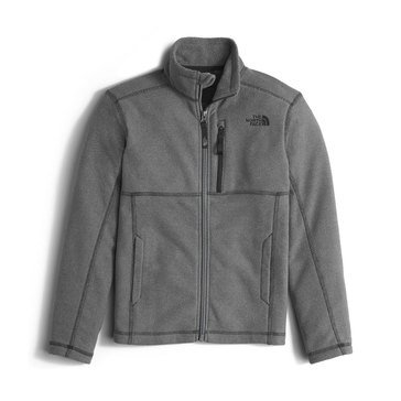 The North Face Boys' Cap Rock Full Zip Jacket, Graphite Grey Heather