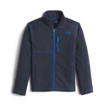 The North Face Boys' Cap Rock Full Zip Jacket, Cosmic Blue Heather