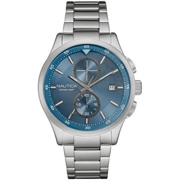 Nautica Men's Chronograph Stainless Steel Bracelet Watch 44mm
