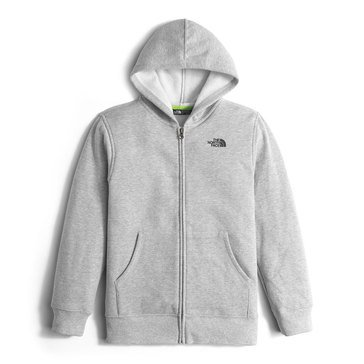 The North Face Boys' Surgent Full Zip Hoodie, Grey