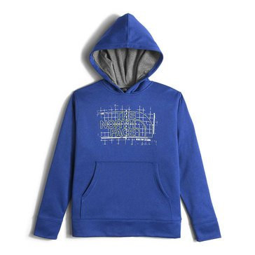 The North Face Boys' Surgent Pullover Hoodie, Honor Blue Heather