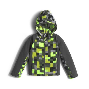 The North Face Toddler Boys' Glacier Full Zip Hoodie, Safety Green Pixel Print