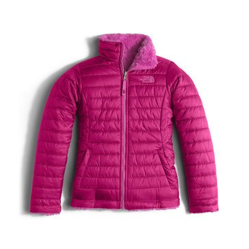 The North Face Big Girls' Mossbud Swirl Jacket, Roxbury Pink