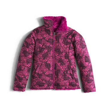 The North Face Big Girls' Mossbud Swirl Jacket, Roxbury Pink Butterfly Camo