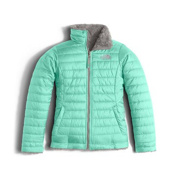 The North Face Big Girls' Mossbud Swirl Jacket, Ice Green