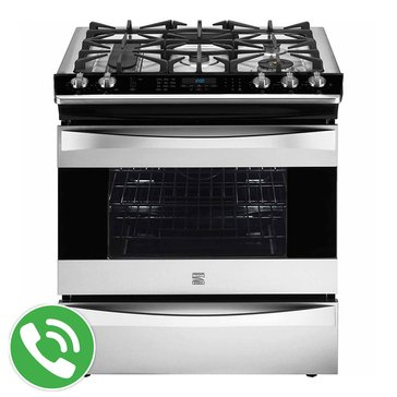 Kenmore Elite 4.5 Cu.Ft. Slide-In Gas Range, Stainless Steel (22-32643)