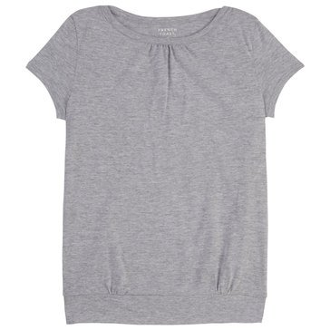 French Toast Toddler Girls' Basic Banded Bottom Solid Top