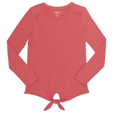 French Toast Toddler Girls' Basic Tie-Front Top