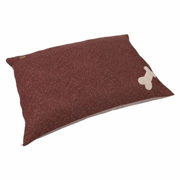 Mutt Nation Pillow Bed, Tooled Leather Print, 27x36