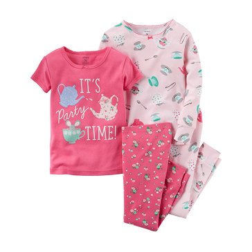Carter's Baby Girls' Party Time 4-Piece Sleepwear Set