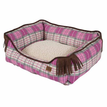Mutt Nation Lounger, Pink, 20x17