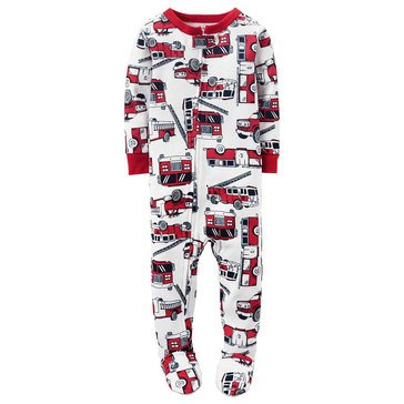Carter's Baby Boys' Firetruck Cotton Pajamas