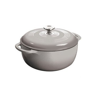 Lodge 6-Quart Enameled Cast Iron Dutch Oven, Grey
