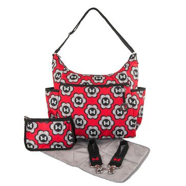 Petunia Pickle Bottom 5-in-1 Hobo Diaper Bag, Minnie Mouse