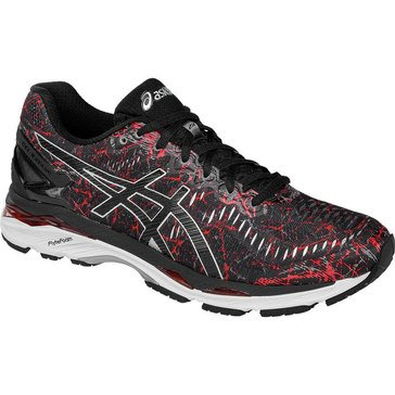 Asics Gel Kayano 23 Men's RUnning Shoe Vermillion / Black / Silver