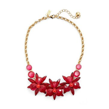 Kate Spade Gold Tone 'Blooming Brilliant' Pink Necklace