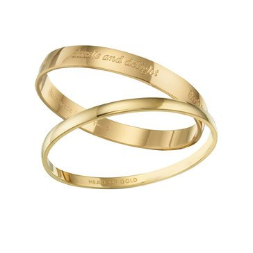 Kate Spade Gold Tone Idiom Bangle Set