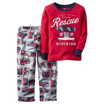 Carter's Baby Boys' Firetruck 2-Piece Fleece Sleepwear Set