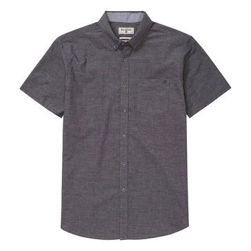 Billabong Men's All Day Chambray Short Sleeve Woven Shirt