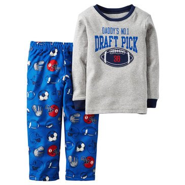Carter's Baby Boys' Draft Pick 2-Piece Fleece Sleepwear Set