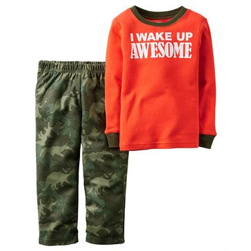 Carter's Baby Boys' Wake Up Awesome 2-Piece Fleece Sleepwear Set