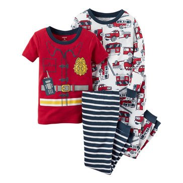 Carter's Baby Boys' Fireman 4-Piece Sleepwear Set
