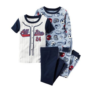 Carter's Baby Boys' All-Star 4-Piece Sleepwear Set