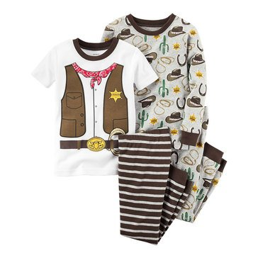 Carter's Baby Boys' Round Up Western 4-Piece Sleepwear Set