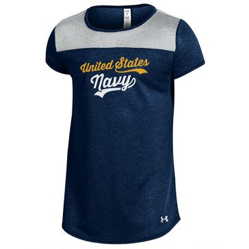 Under Armour Girls' USN Grainy Shirzee Tee