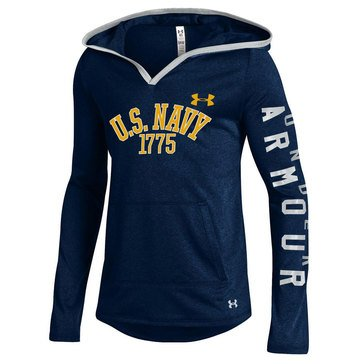 Under Armour Girls' USN 1775 Grainy Tech Pullover