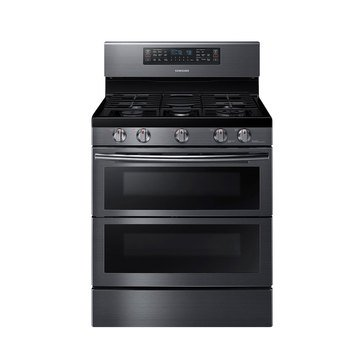 Samsung 5.8-Cu.Ft.Double Oven Gas Range, Black Stainless Steel (NX58K7850SG)