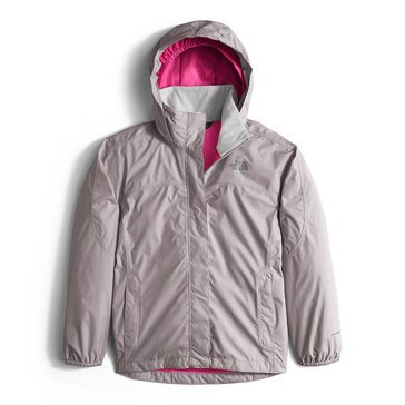 The North Face Big Girls' Resolve Rain, Jacket Silver
