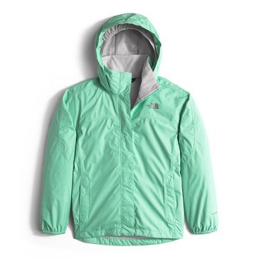 The North Face Big Girls' Resolve Rain Jacket, Ice Green